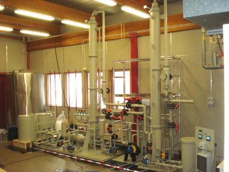 1 Pilot plant, stripping and absorption of ammonia