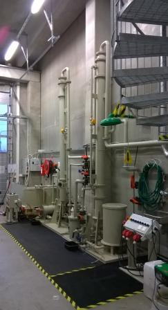 6 Pilot plant, stripping and absorption of ammonia