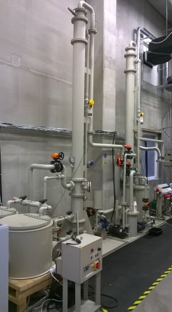 5 Pilot plant, stripping and absorption of ammonia